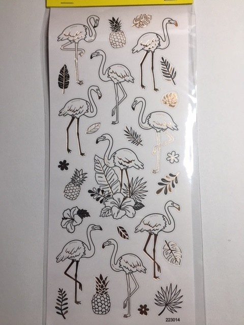 Stickers - Gold & Silver - Flamingo
