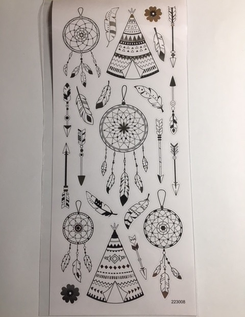 Stickers - Gold & Silver - Dream Catcher & Feathers