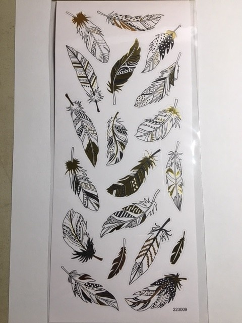Stickers - Gold & Silver - Feathers