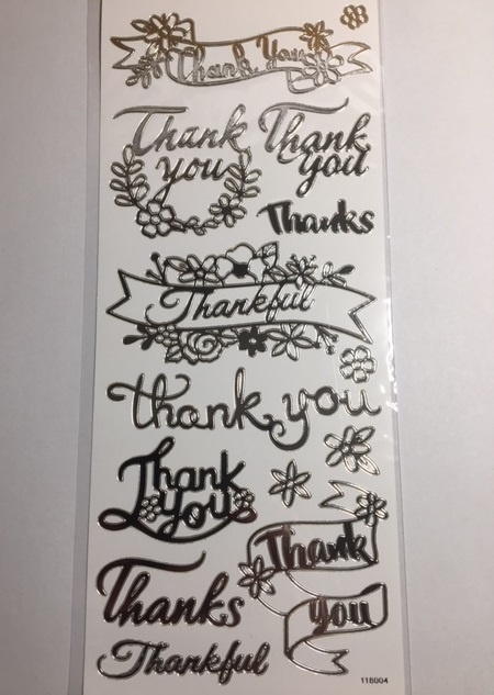 Stickers - Silver - Thank You