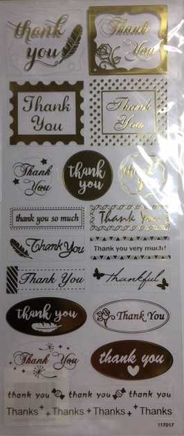 Stickers - Gold - Thank You