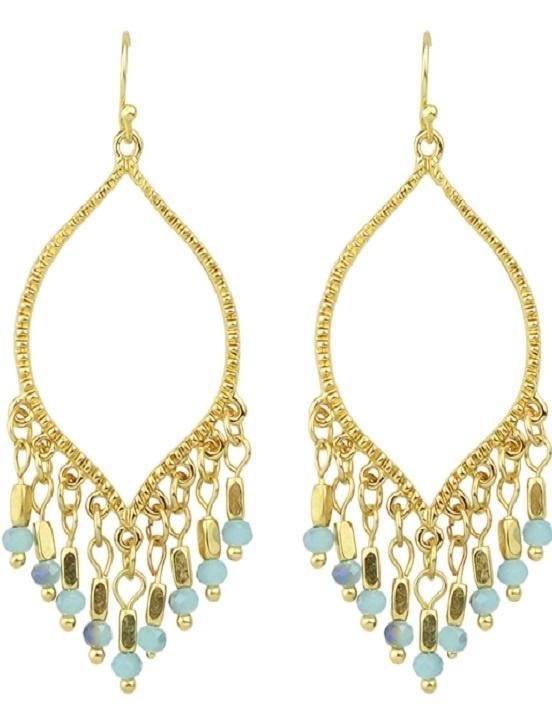 Earrings - Dangles - Blue & Gold
