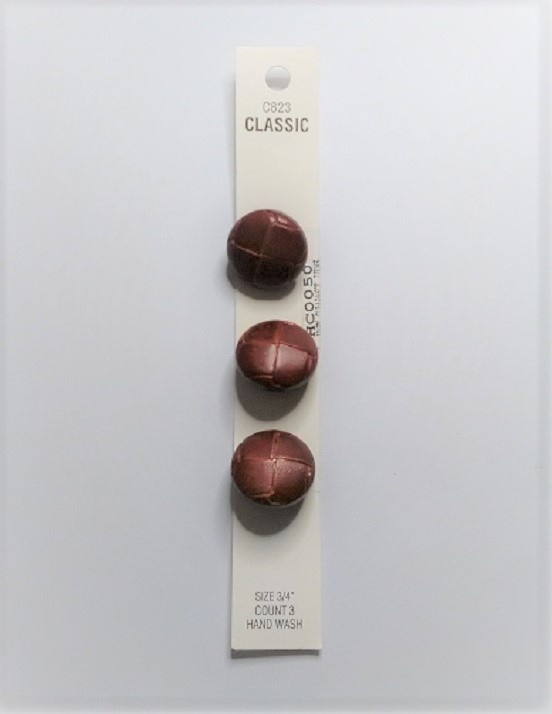 Buttons - Classic - Brown - 20mm