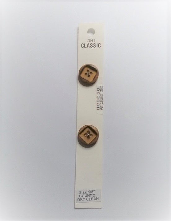 Buttons - Classic - Brown - 16mm