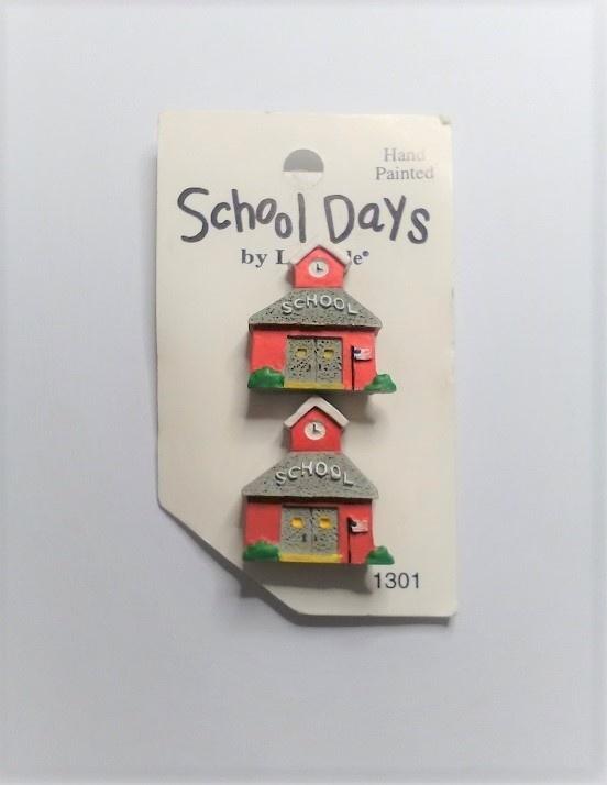 Buttons - School Days - 26mm x 23mm