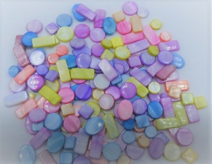 Glass Beads - Mother of Pearl Mix - 100g