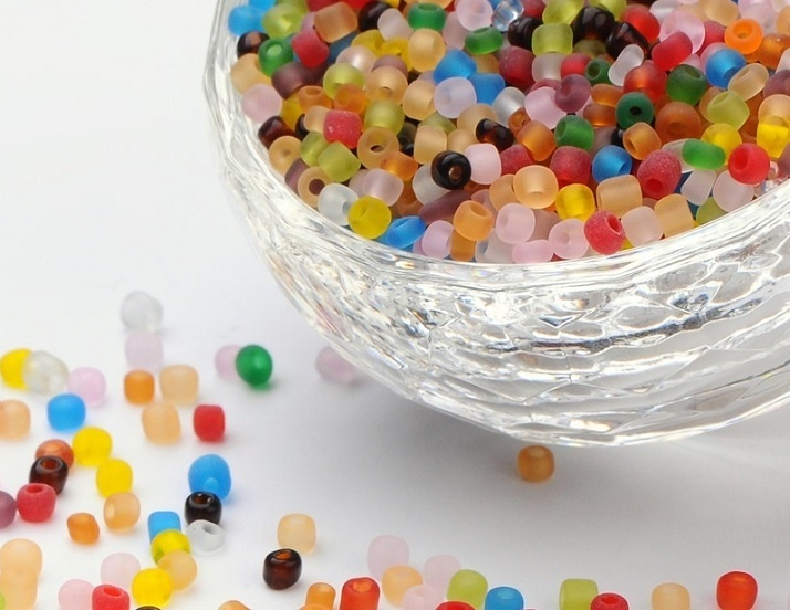 Seed Beads - 3mm - Frosted Mix - 20g