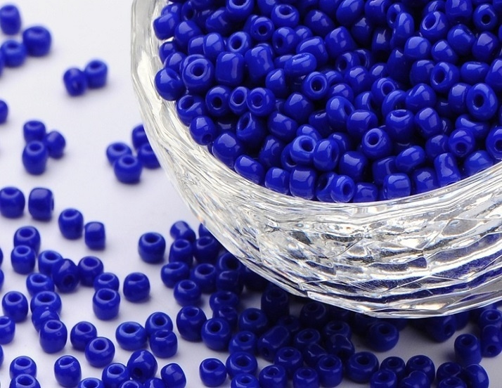 Seed Beads - 3mm - Opaque Royal Blue - 20g Approx 600 Pieces