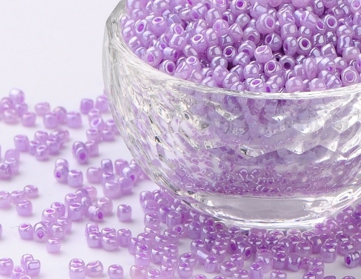 Seed Beads - 3mm - Opaque Violet - 20g