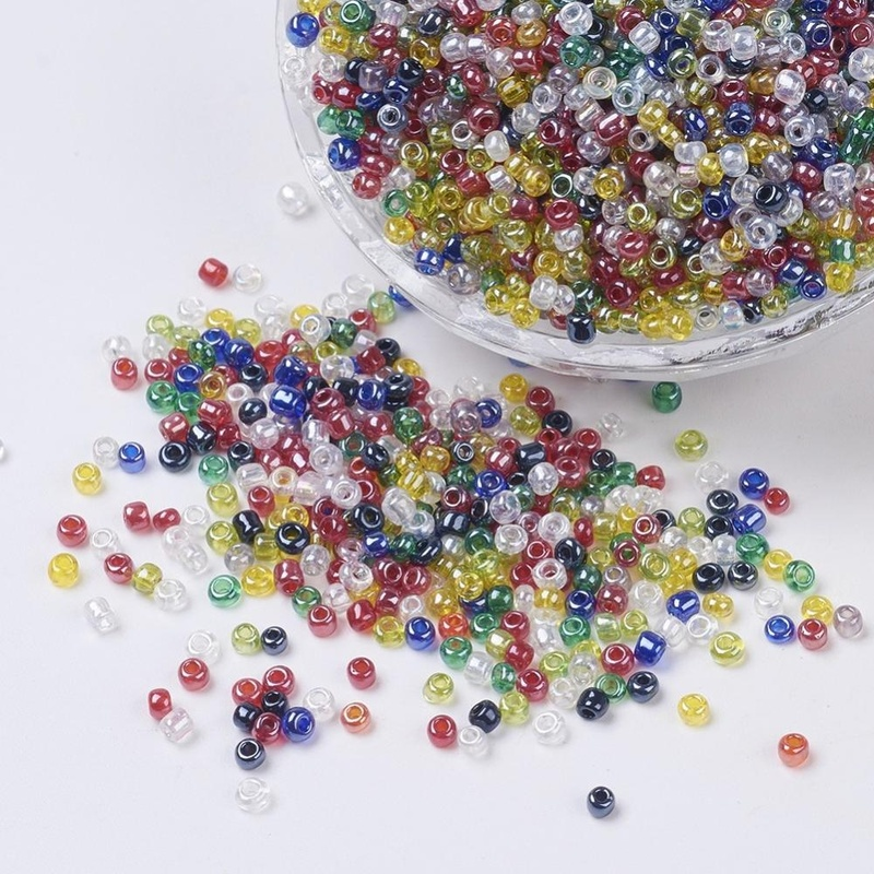 Glass Seed Beads - 2mm - Lustered Mix - 20g