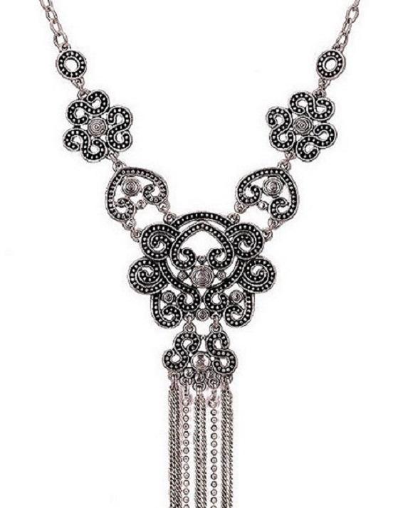 Silver Tassel Chain Necklace