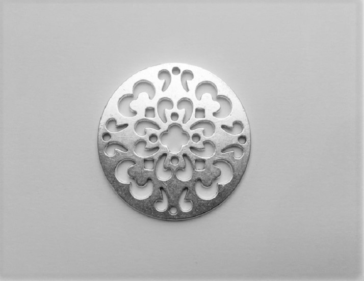 Pendant - Circle - Silver - 1 Piece