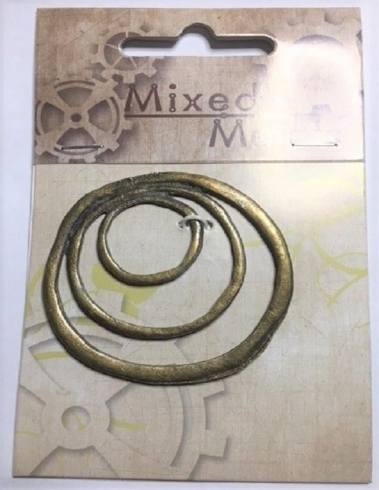 Pendant - Circles - Antique Bronze