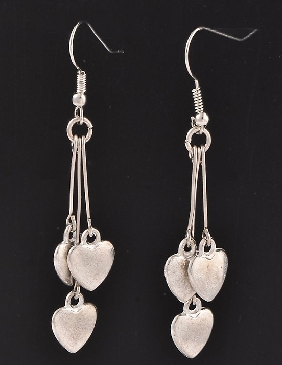 Earrings - Dangles - Triple Hearts