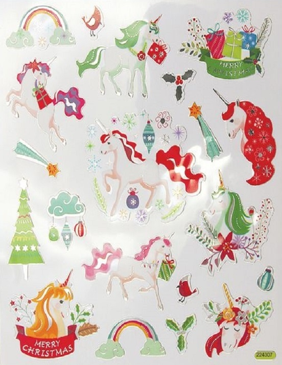 Stickers - Christmas - Unicorns