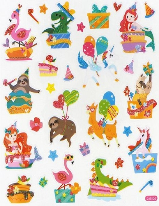 Stickers - Party - Glitter - Animals