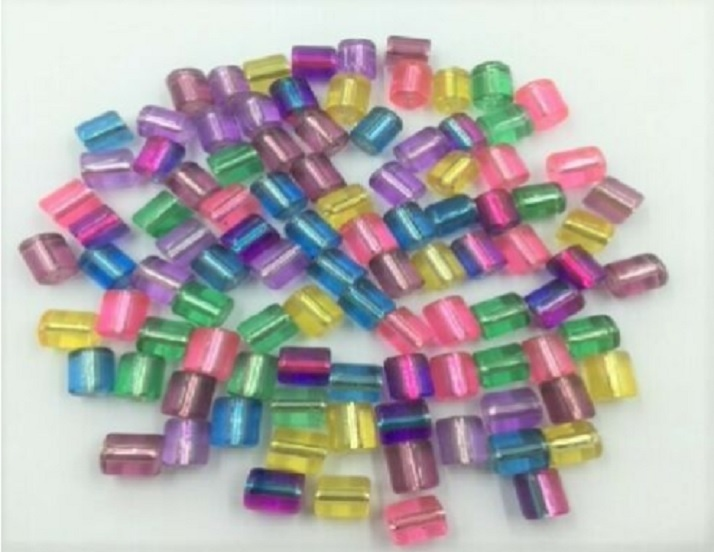 Glass Beads - Tube Multi Mix - 100 pieces