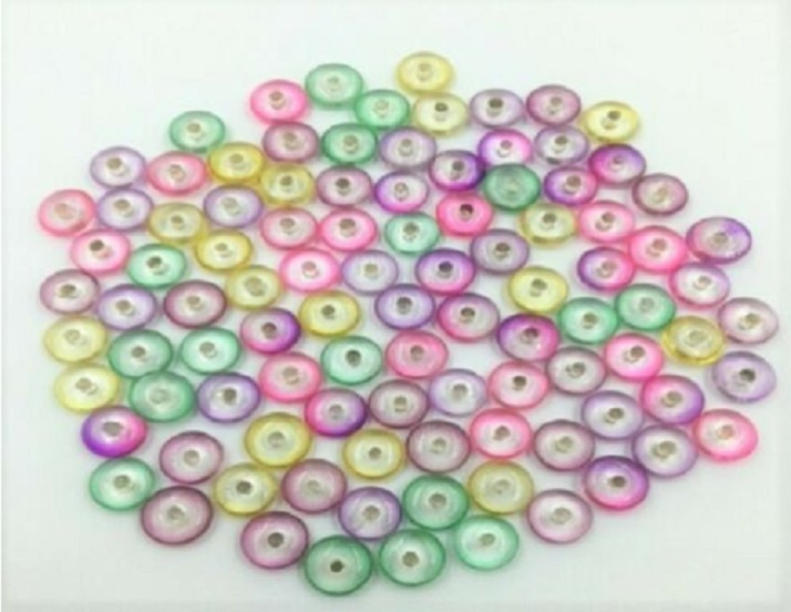 Glass Beads - Disc Multi Mix - 100 pieces