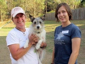 Susan Garratt and me with my dog Obi