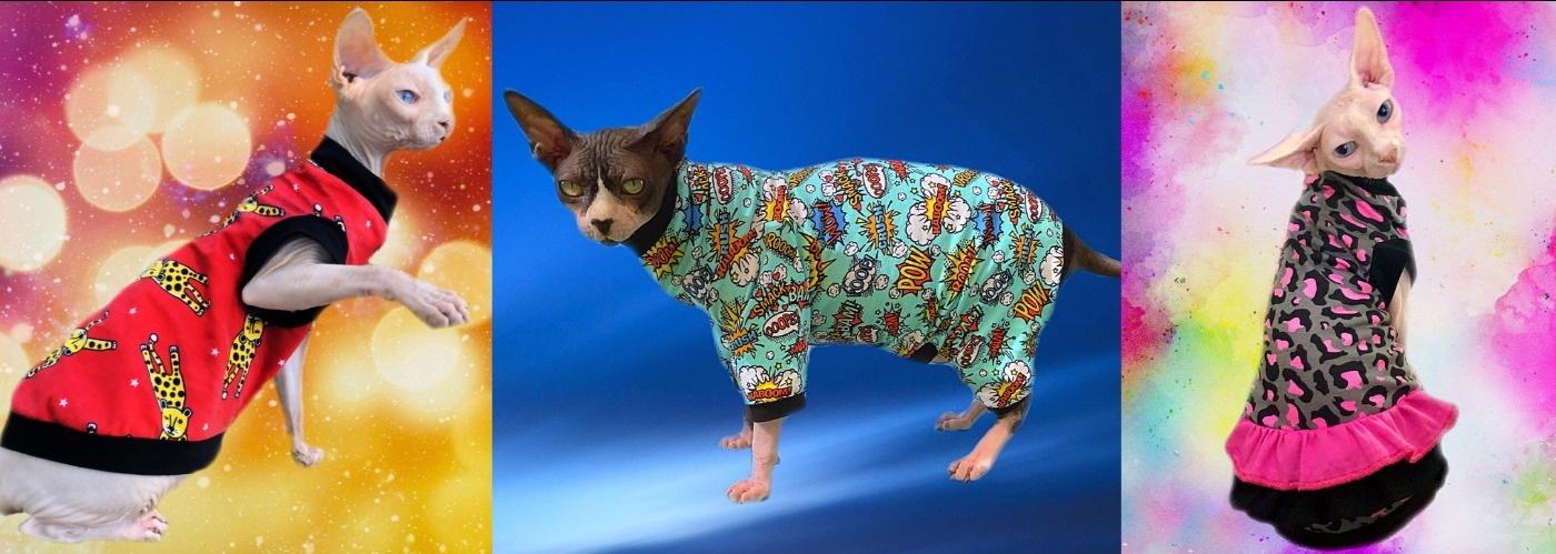 SphynxBoyz - Clothing for Cats such as Sphynx, Devon Rex, Cornish Rex, Siamese, Orientals, etc.