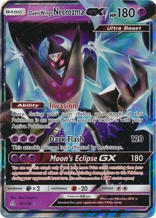 ULTRA PRISM - Dawn Wings Necrozma GX - 63