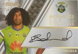Authentic Signature - Raiders Iosia Soliola - AS2
