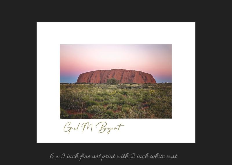 Uluru 'Raw Beauty at Sunrise' Art Mount