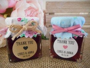 Personalised Jam Jar Vintage Wedding Favour DIY Bomboniere Supplies
