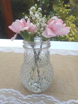 Pineapple Jar Small Vase Vintage Wedding Table Decor