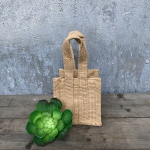 Small Natural Jute Bags Rustic Wedding Favour Ideas