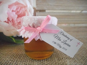 Personalised Christening Favour Jar DIY Bomboniere Supplies