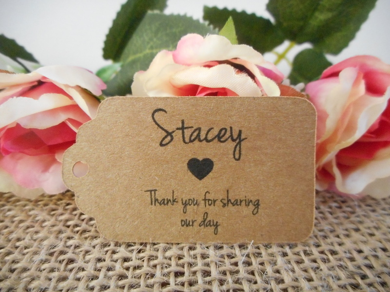 Kraft Rustic Name Tag Small Rectangle Personalised