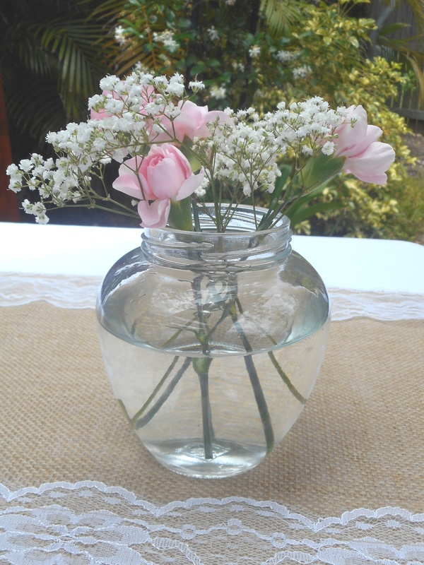 Round Tapered Jar Vintage Wedding Small Flower Vase