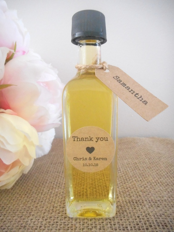 60ml Small Square Glass Olive Oil Bottles Wedding Favours Bomboniere