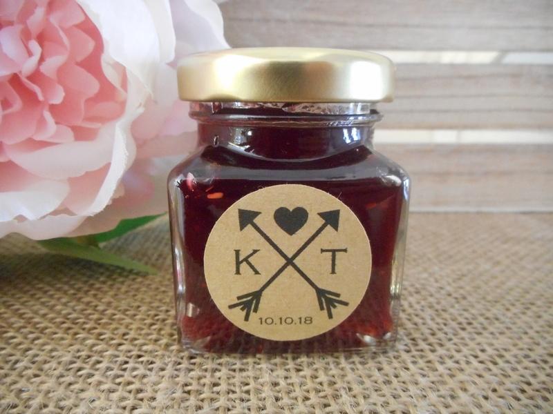 Round Kraft Labels Cross Arrow Black Heart Personalised Stickers