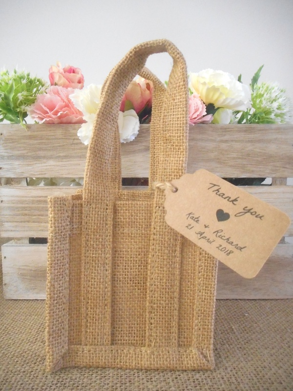 Natural Jute Gift Bags Rustic Vintage Wedding Event