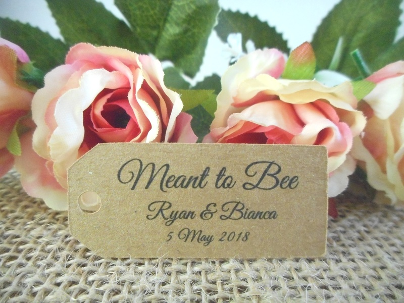 Kraft Elegant Meant to Bee Mini Rectangle Tags Personalised