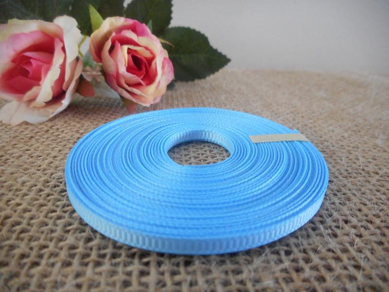 3mm x 9m Light Blue Grosgrain Ribbon Wedding Christening Bomboniere