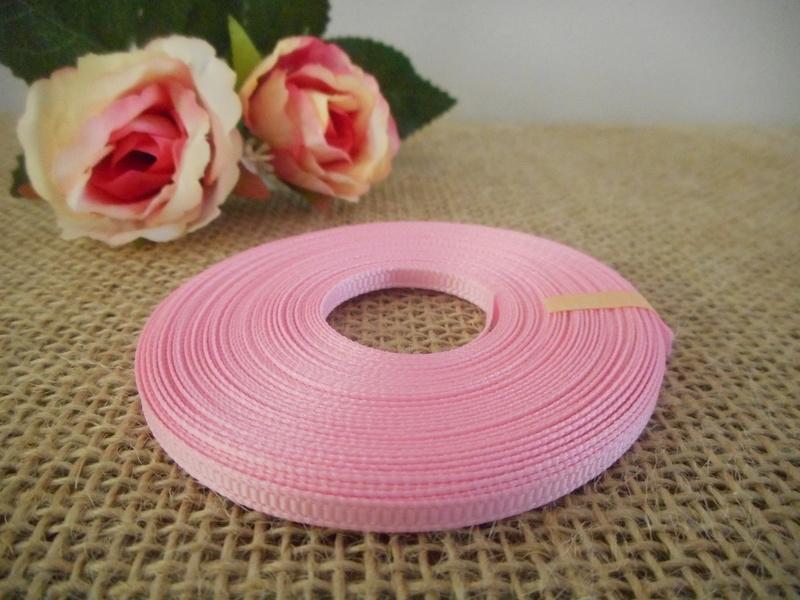 3mm x 9m Light Pink Grosgrain Ribbon Wedding Christening Bomboniere