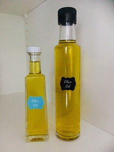 100ml and 250ml Small Glass Olive Oil Bottles