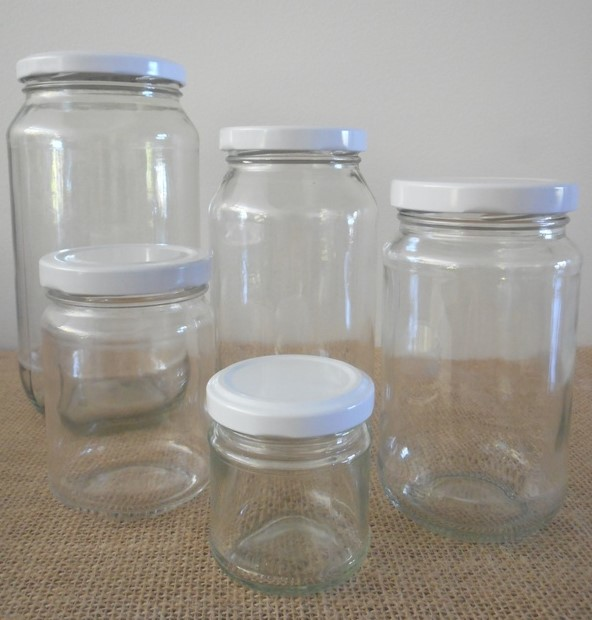 Round Glass Jars Kitchen Pantry Food Storage, Brisbane Australia
