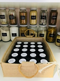 Organised Kitchen Pantry Glass Jars and Labels Australia