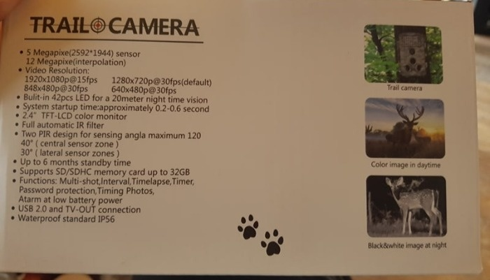 Trail Camera Specifications