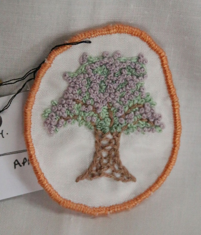 Tree - Hand Embroidered Sew On Patch