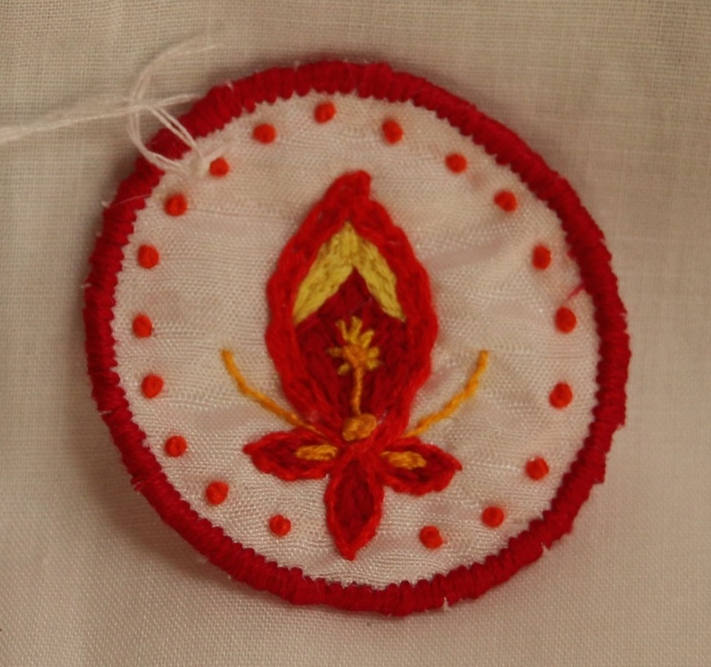 Fire Energy Transformation 4 - Hand Embroidered Sew On Patch