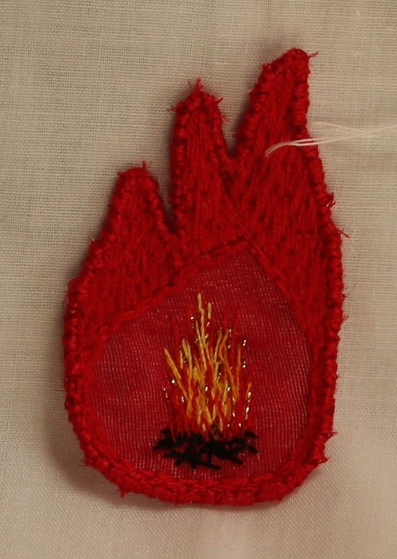 Fire Energy Transformation 3 - Hand Embroidered Sew On Patch