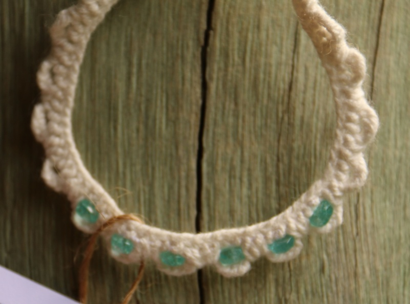 259. Blue Apatite Needle Lace Bracelet