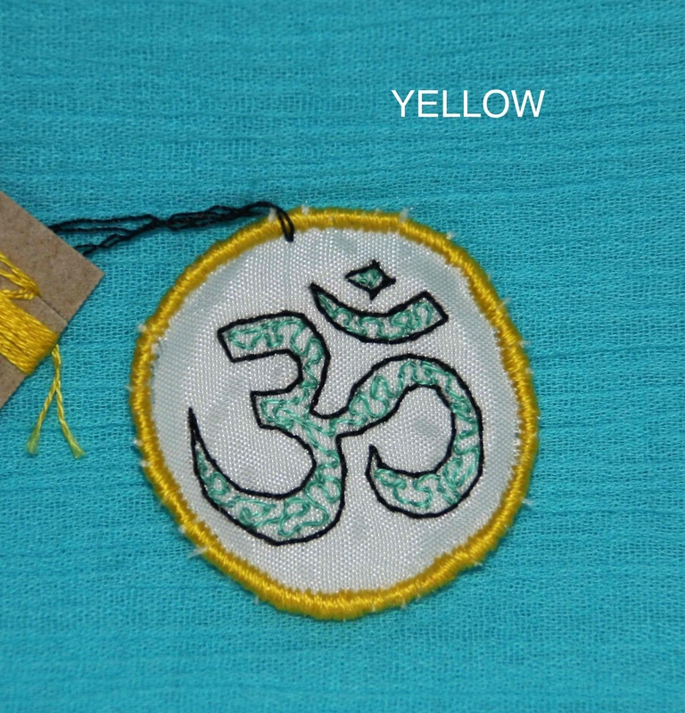 OHM Symbol - Yellow - Hand Embroidered Sew On Patch