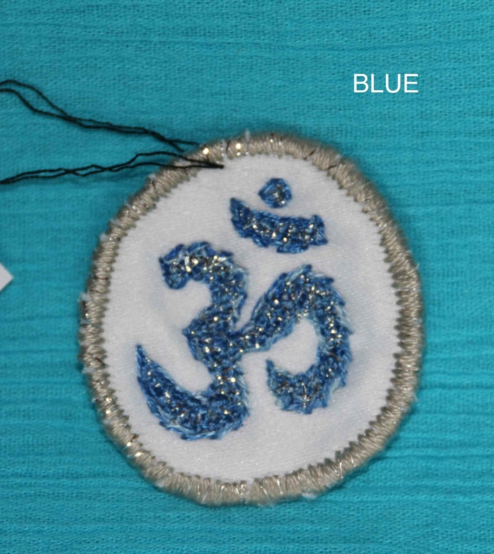 OHM Symbol - Blue - Hand Embroidered Sew On Patch