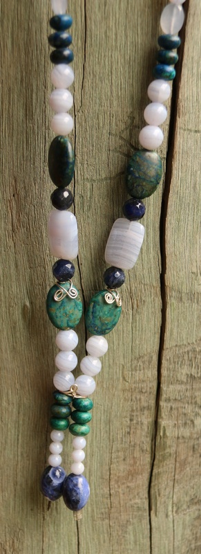 37. Blue Lace Agate, Sodalite and Chrysocolla